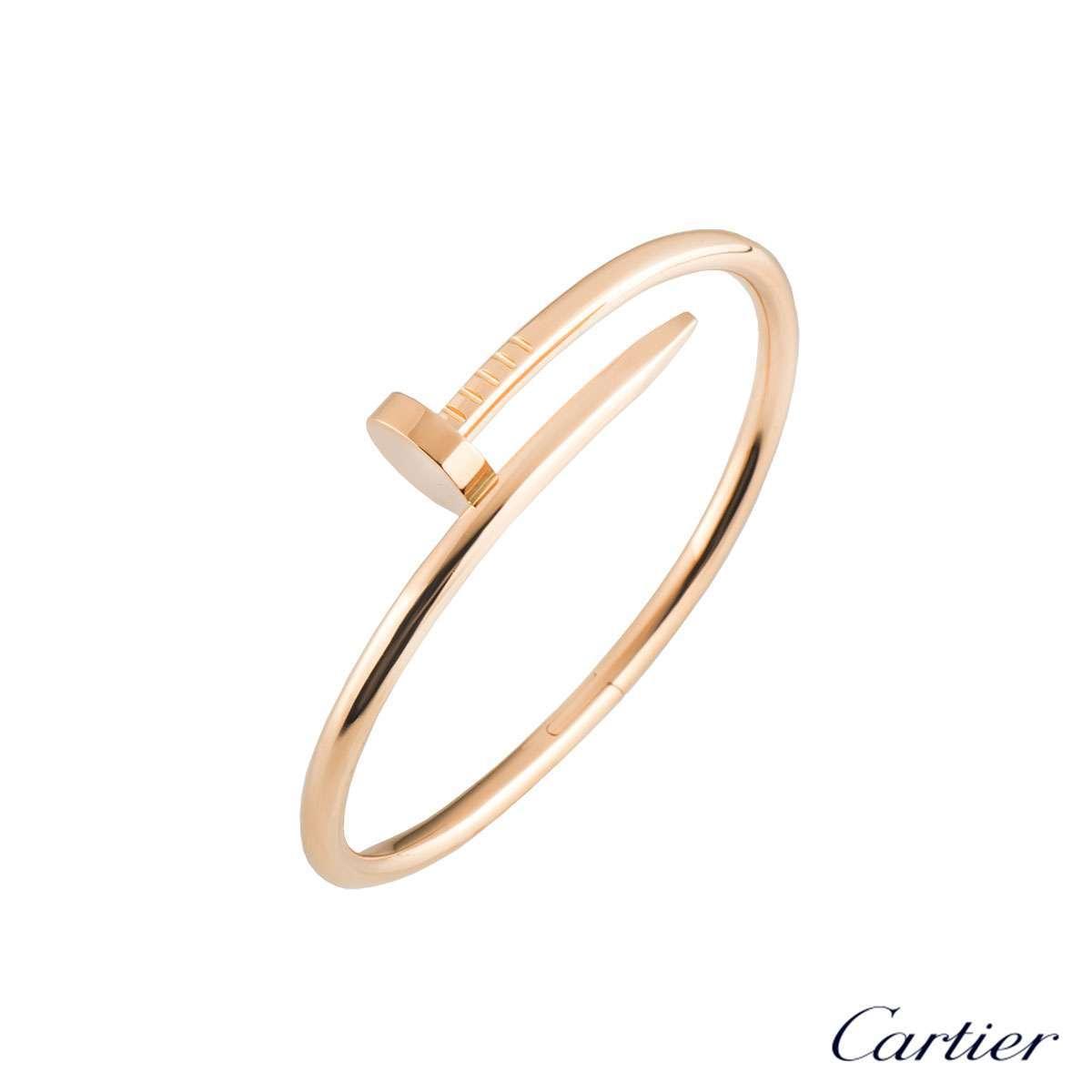 Cartier Rose Gold Plain Juste Un Clou Bracelet Size 20 B6048120